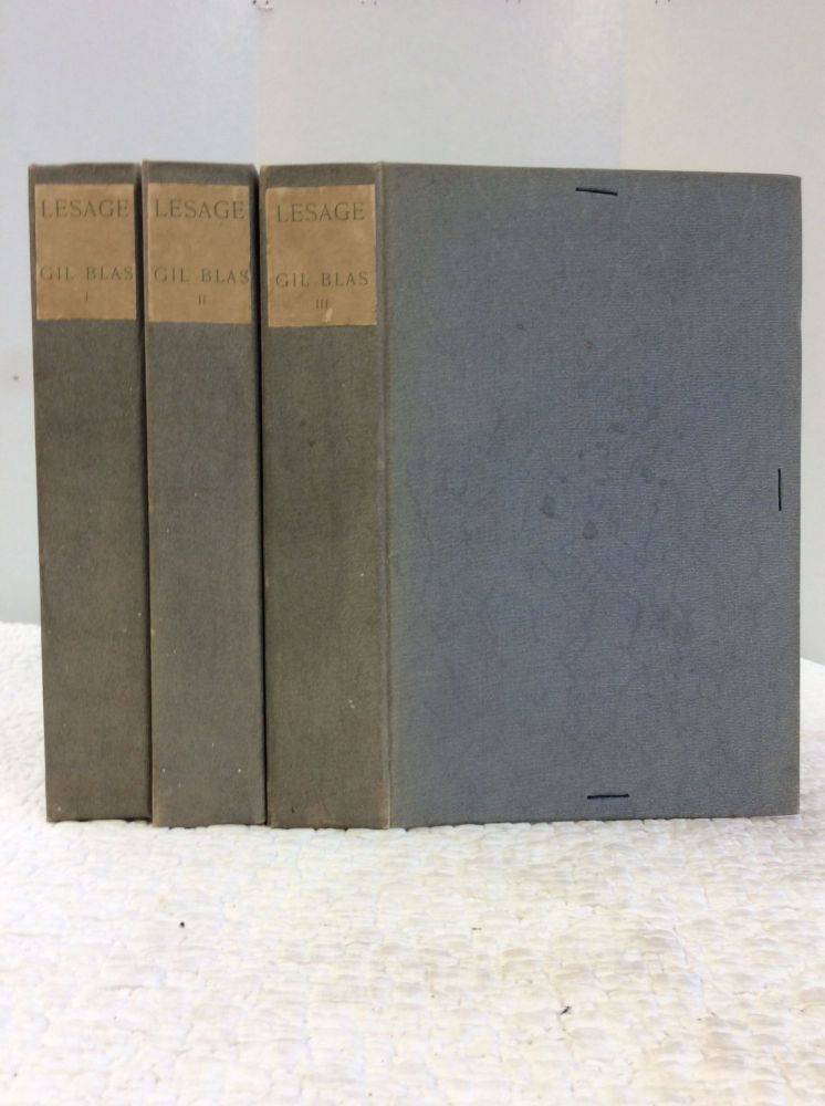 THE HISTORY OF GIL BLAS OF SANTILLANA Rendered into English by Henri Van Lann Revised and Completed by Henri Roberts also an Introductory Notice Life of Lesage and Notes with Etchings by Adolphe Lalanze in Three Volumes. Alain Rene Lesage.
