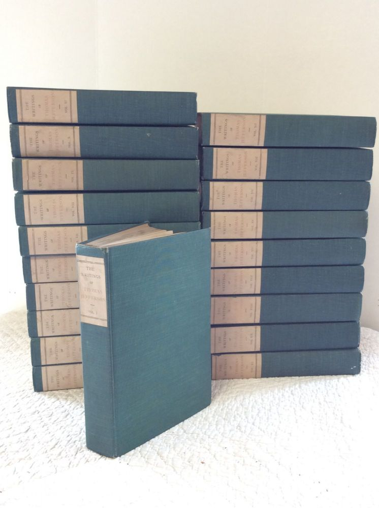 THE WRITINGS OF THOMAS JEFFERSON [complete set]. ed Andrew A. Lipscomb.