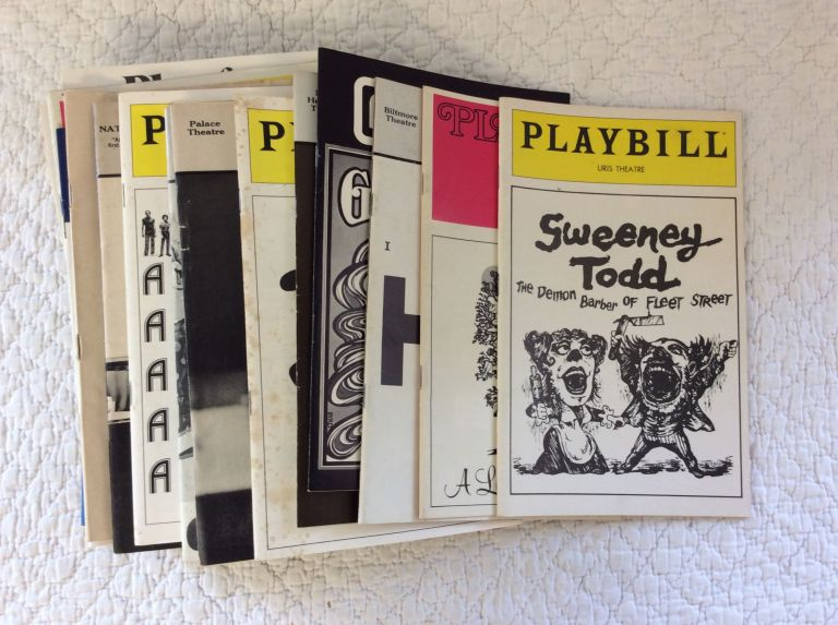 COLLECTION OF 43 THEATER PROGRAMS FOR BROADWAY MUSICALS, 1955-1991