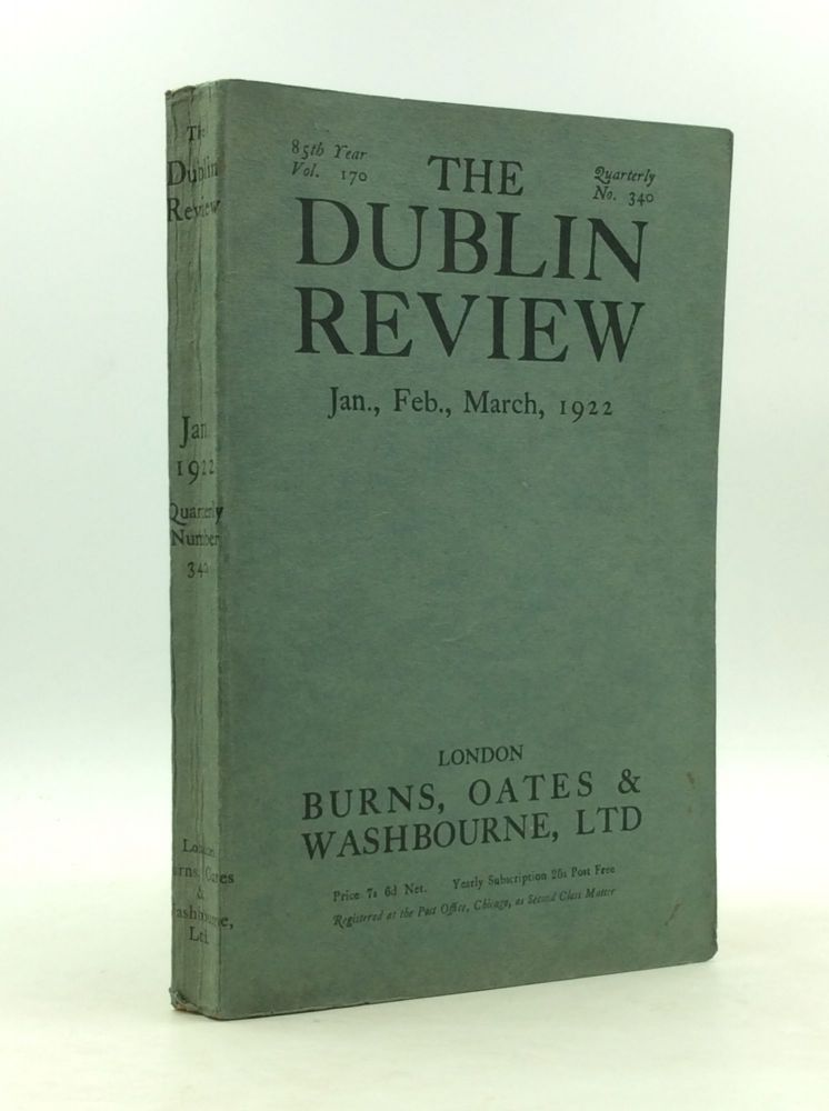 THE DUBLIN REVIEW January, February, March 1922