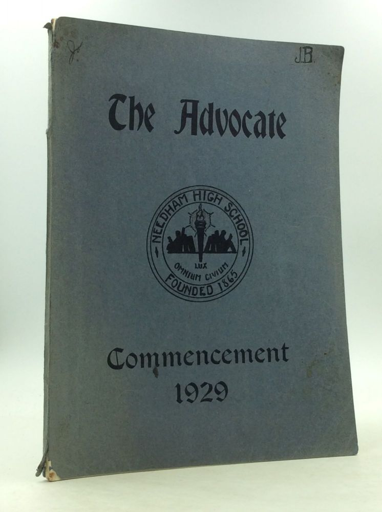 THE ADVOCATE: Commencement 1929. Needham High School.