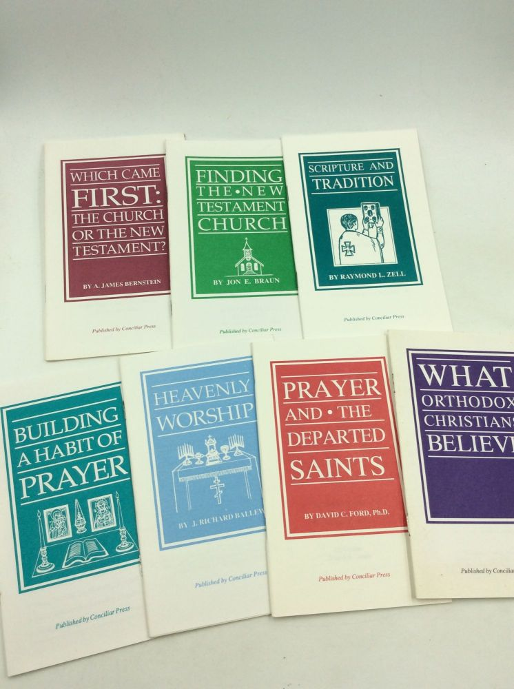 LOT OF 7 BOOKLETS FROM CONCILIAR PRESS ON THE ORTHODOX FAITH. Conciliar Press.