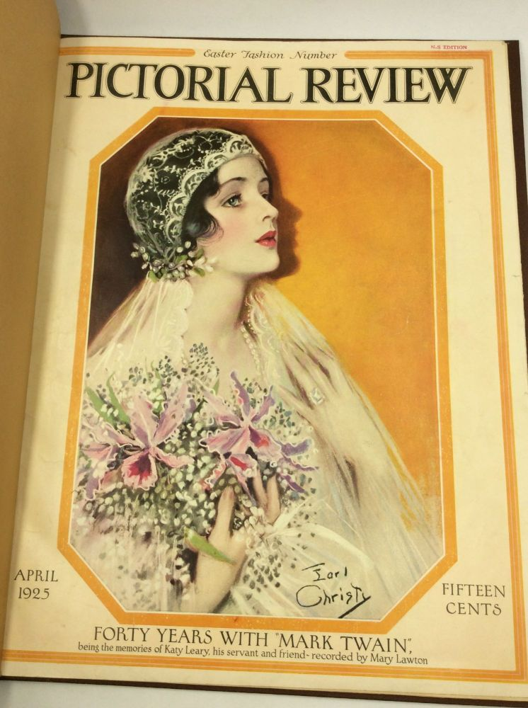 PICTORIAL REVIEW, April 1925: Forty Years with Mark Twain. Katy Leary, Mary Lawton.