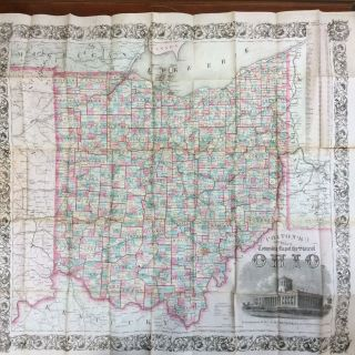 COLTON'S TOWNSHIP MAP OF THE STATE OF OHIO. G W., C B. Colton.