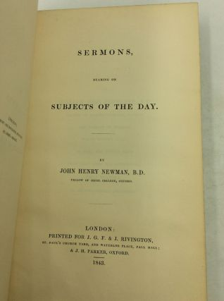 SERMONS, BEARING ON SUBJECTS OF DAY