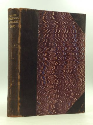THE AMERICAN CATHOLIC HISTORICAL RESEARCHES FOR 1905. ed Martin I. J. Griffin.