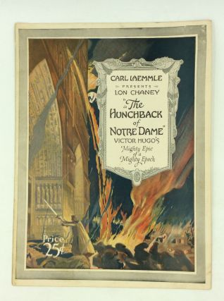 "CARL LAEMMLE PRESENTS LON CHANEY IN ""THE HUNCHBACK OF NOTRE DAME"" Silent Movie Program"
