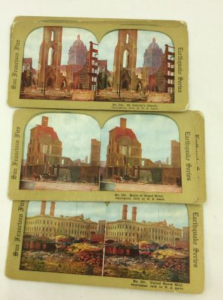 a set of 25 stereocard views of the 1906 san francisco earthquake