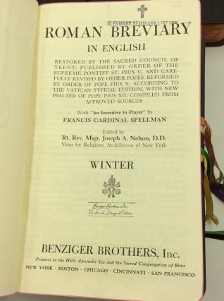 THE ROMAN BREVIARY IN ENGLISH: Four Volumes - Winter, Spring, Summer, Autumn