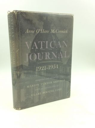 VATICAN JOURNAL 1921-1954. Anne O'Hare McCormick