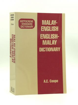 MALAY-ENGLISH/ENGLISH-MALAY DICTIONARY. A. E. coope