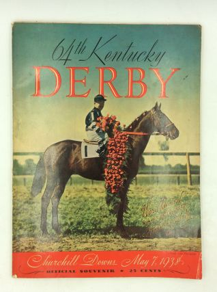 1938 KENTUCKY DERBY OFFICIAL SOUVENIR BOOK. Kentucky Derby