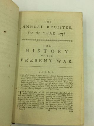 THE ANNUAL REGISTER: Complete Run From 1758-1849