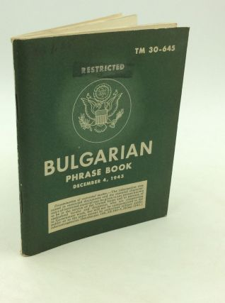 BULGARIAN PHRASE BOOK