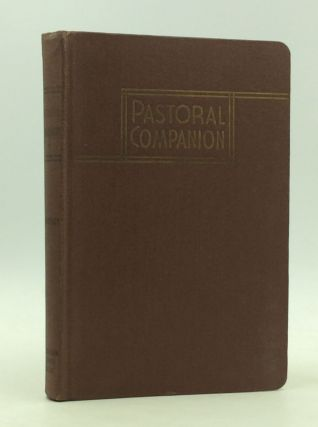 THE PASTORAL COMPANION. Fr. Honoratus Bonzelet