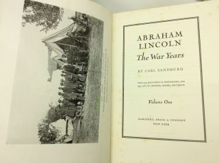 ABRAHAM LINCOLN: The War Years, Volumes I-IV
